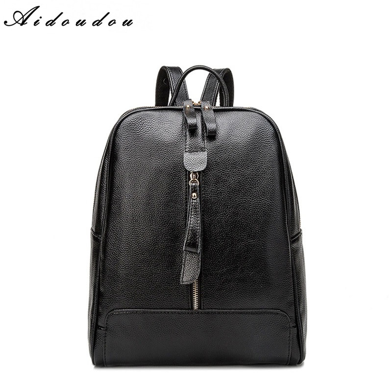 AIDOUDOU Brand Backpacks High Quality Preppy Style School Bag Fashion Women Bags For College Student Travel