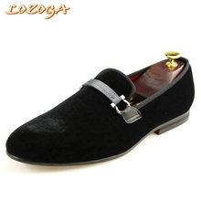 Hotsell Mens Casual Shoes Black High Quality Velvet Shoes Summer Loafers Slip-On Fashion Brand Shoes Breathable Comfy Big Size