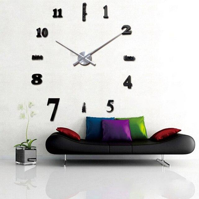 Neue Große Wanduhr Wohnzimmer Dekoration Uhr Home Decor Uhr Moderne DIY 3D  Aufkleber Kurze Uhr Drop