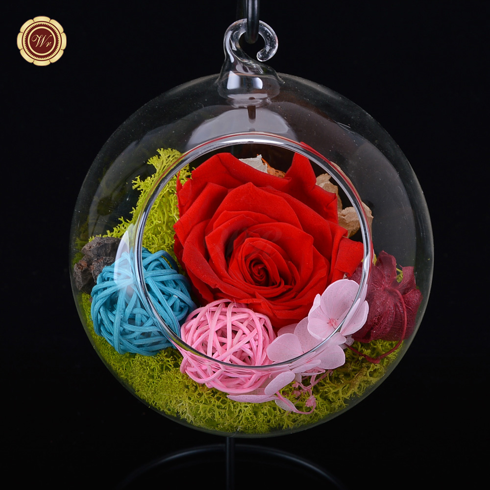 Wr Colorful Roses Immortal Flowers Gl Cover Fresh Preserved Rose Valentine S Day Wedding Gift Forever Love Souvenir In Artificial Dried