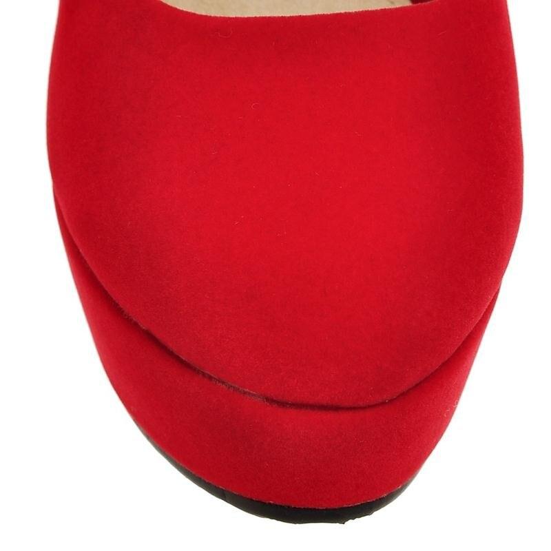 tonda in donne pumps Summer Arrive concisa nabuk donna pelle da punta New quadrato nero sposa rosso taglia Asumer scarpe grande tacco 34 43 Pu avwxTIwq