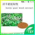 Чистые Натуральные Horny Goat Weed Экстракт Идеальном Соотношении порошок 200 г/лот