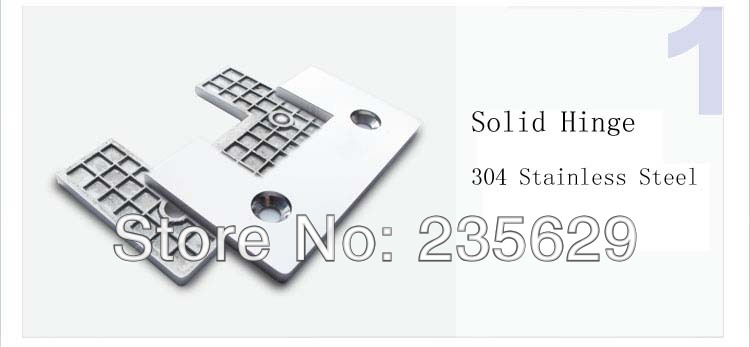 De, 304 aço inoxidável dobradiça do chuveiro 90 grau, Braçadeira de vidro, Espelho terminou, Fácil instalação, Em - 5
