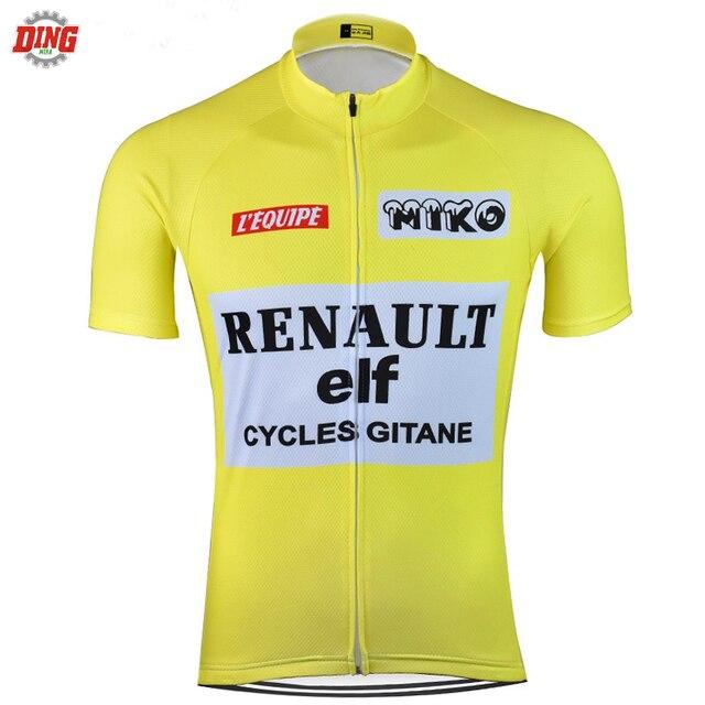 classical men pro team Cycling jersey ropa Ciclismo Short sleeve Bike wear  yellow cycling clothing MTB d4b7843b6