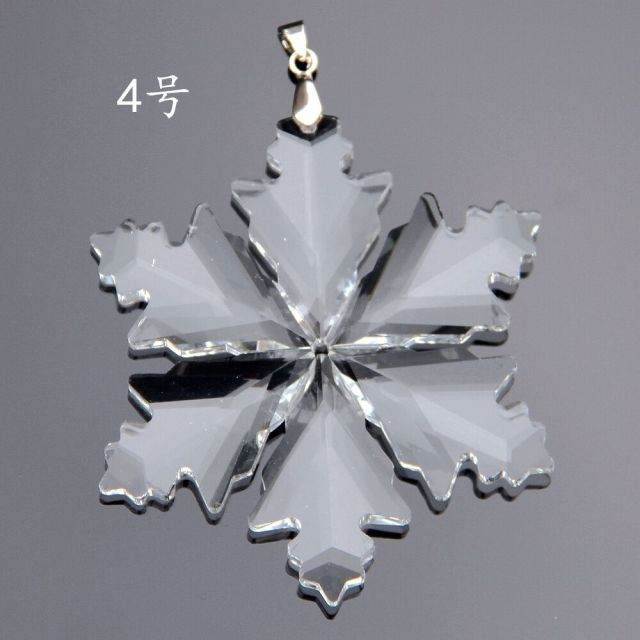 79 mm 10pcs clear crystal snowflake healing crystals fengshui crystal christmas ornaments for home decoration or - Crystal Christmas Decorations