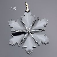 89mm 10pcs Clear Crystal Snowflake Healing Crystals Fengshui Crystal Christmas Ornaments For Home Decoration Or Car