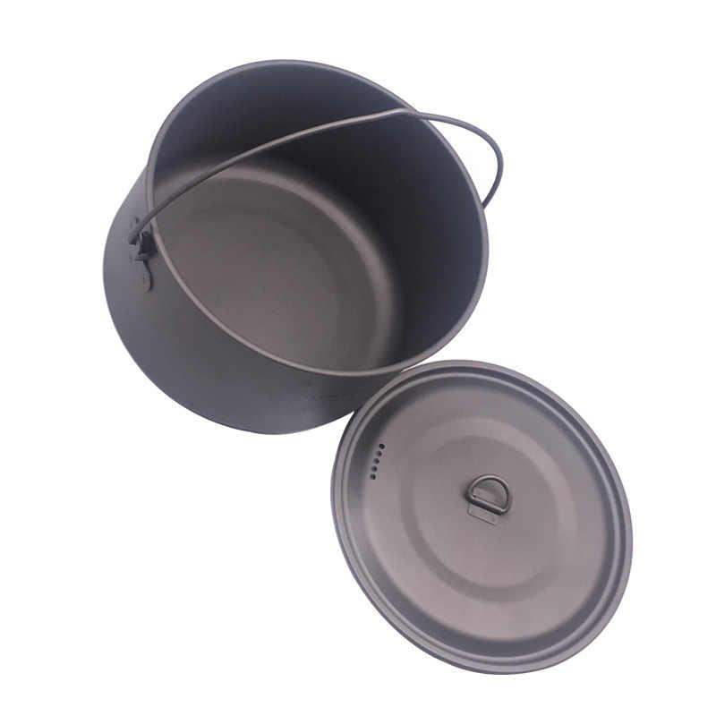 FLAME'S CREED 1100 мл 1950 мл Сверхлегкий для улицы, для кемпинга, титановый горшок и сковорода для готовки сковорода для жарки сковорода Титановая посуда наборы горшок