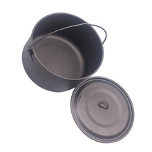 FLAME'S CREED 1100ml 1950ml Ultralight Outdoor Camping Titanium Pot & pan Cooking Pot fry pan Titanium Cookware Sets Pot