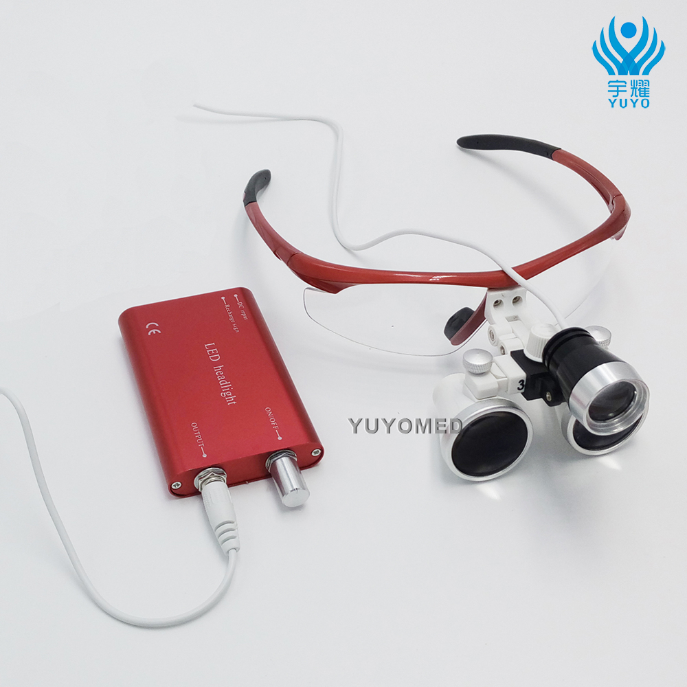Big Big sale Dental equipment Surgical Medical dental Loupes dental glasses 3 5X 420mm LED Head