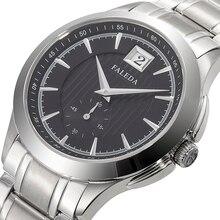 FALEDA kalendarz biznesowy zegarek kwarcowy męski wodoodporny szafirowe szkło opakowanie ze stali nierdzewnej sportowy zegarek człowiek relogio masculino