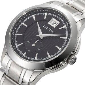 Image 1 - Faleda ビジネスカレンダー腕時計防水サファイアガラスステンレススチールケーススポーツ腕時計男性レロジオ masculino