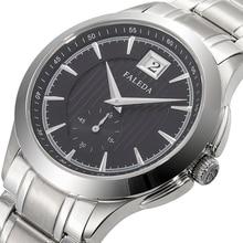 Reloj de cuarzo FALEDA, reloj de pulsera deportivo de acero inoxidable con cristal de zafiro resistente al agua para hombre