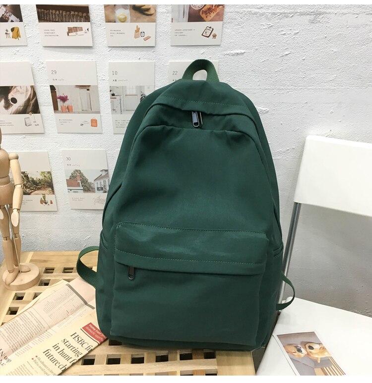 HTB14QbMXpY7gK0jSZKzq6yikpXaP 2019 Backpack Women Backpack Solid Color Women Shoulder Bag Fashion School Bag For Teenage Girl Children Backpacks Travel Bag