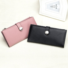 Miyahouse Genuine Leather Women Long Wallets Zipper Coin Purses For Female Clutch Bags Cowhide Leather Card Holder Wallet