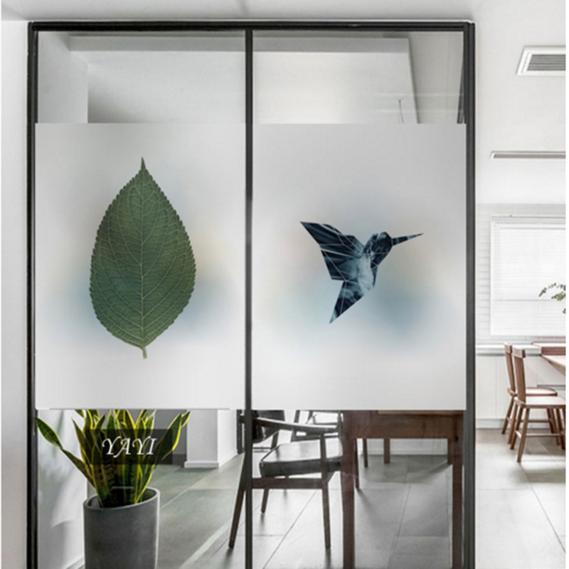 Frosted glass stickers Ins Nordic style Bathrooms balcony door windows electrostatic transparent opaque film