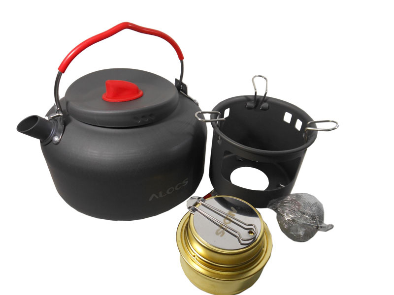 free shipping Alocs Outdoor camping hiking Water Kettle Camping pot Outdoor Travel Cookware CW-K04 PRO alocs 3 5 people outdoor pot camping pot cookware cw tm01