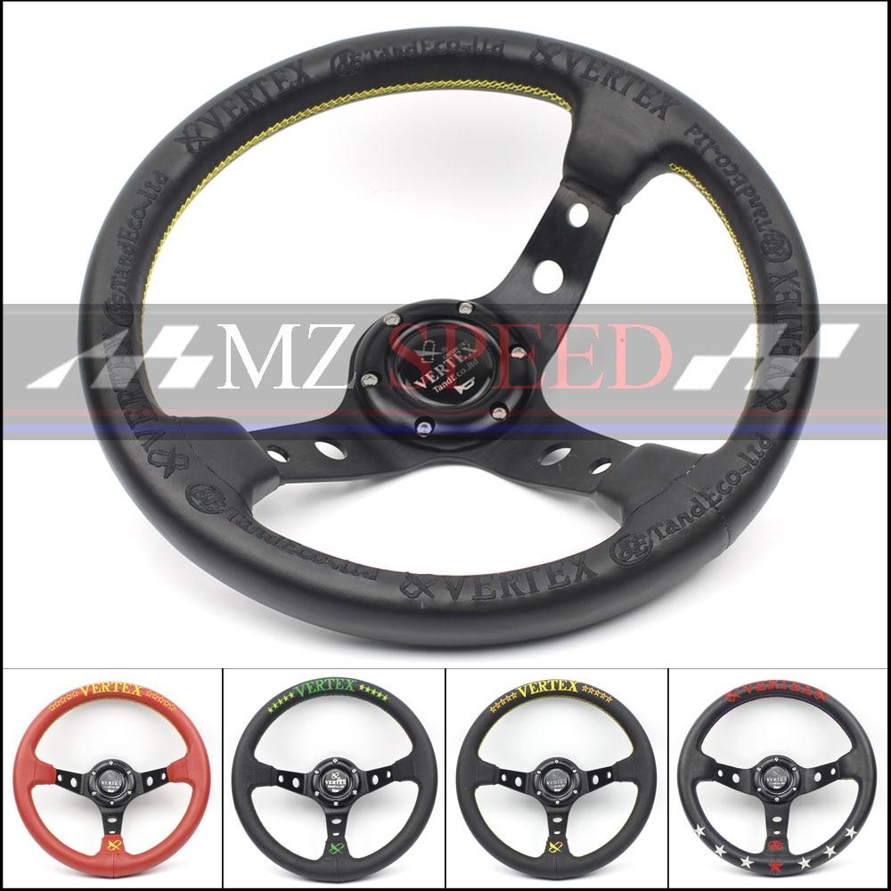 Universal 13'' 330mm Black Deep Dish Car Racing Drift Race Sport Vertex Steering Wheel