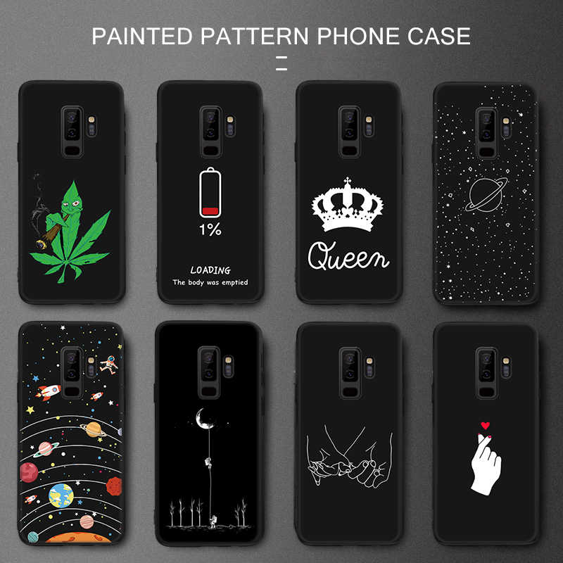 Silicone Phone Case For Samsung Galaxy S9 S10 S8 Plus S10e A6 A8 J4 J6 Plus 2018 Note 9 8 Pattarn Cover A7 2018 A750F Back Case