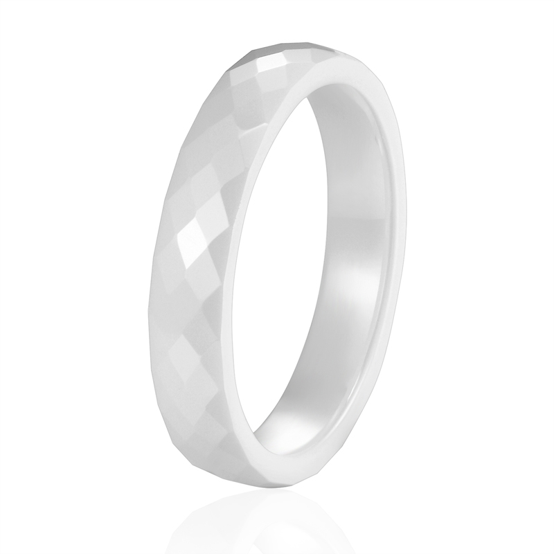New 4mm Light Pink Black White Beautiful Hand Cut Ceramic Ring For Woman Top Quality Jewelry Without Scratches Woman Ring 3