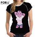 FORUDESIGNS Bikini Cat 3D T shirt Women Lovely Shirt Good Quality Comfortable Brand Shirts Soft Tops 2017 Summer Women tshirt