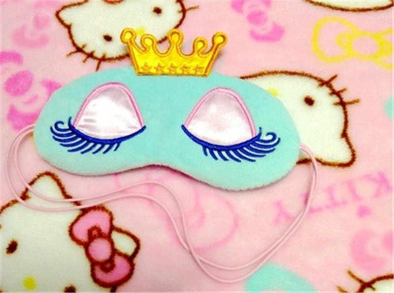 Schöne Krone Eyeshade Augen Abdeckung Schlaf Maske Reise Cartoon Lange Wimpern Augenbinde Nette Augen Abdeckung Gesicht Pflege Werkzeug Make-Up set