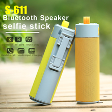 Bluetooth Speaker Stereo Sound suooprt TF U disk for outdoor players with wireless selfie stick + mobile support portable source