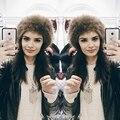 2016 Новый Осень Зима Теплая Классический Искусственного Меха Hat Cap Женщин девушка Шляпу Открытый Головной Убор Шапочки Снег Ловец Шапки Женский Новый
