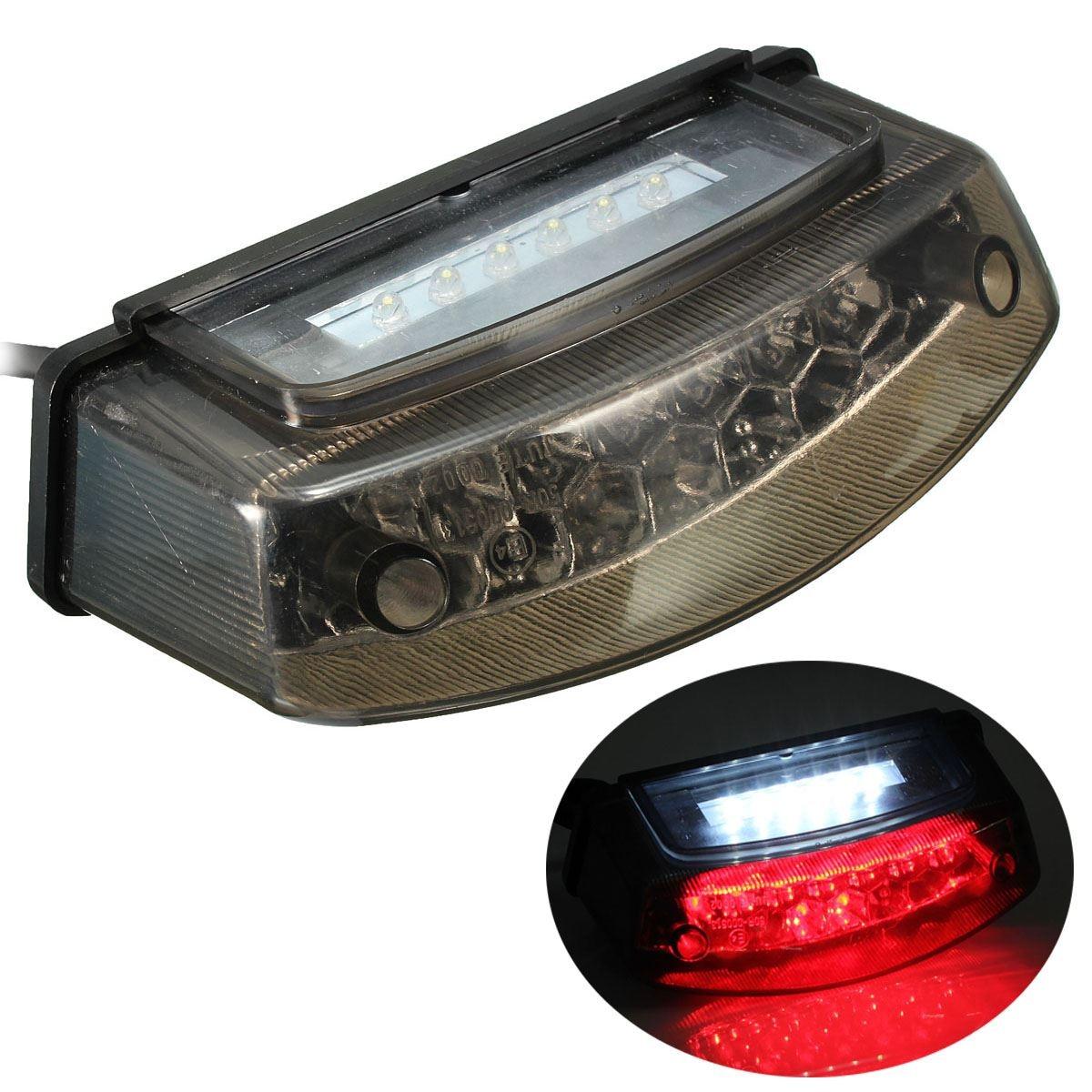 12V LED Universal Motorcycle Tail Brake Light License Plate font b Lamp b font Rear Stop
