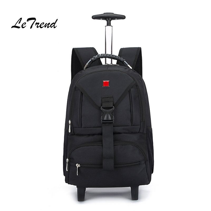 Letrend Business Oxford Travel Bag Suitcases Wheels Student Backpack Rolling Luggage large capacity Trolley Carry On Trunk letrend business oxford travel bag suitcases wheels student backpack rolling luggage large capacity trolley carry on trunk