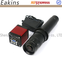 13MP 1/3 CMOS Industry microscope Camera HDMI VGA outputs 60F/S 720P +10X~300X Adjustable Magnification 25mm Zoom C mount Lens