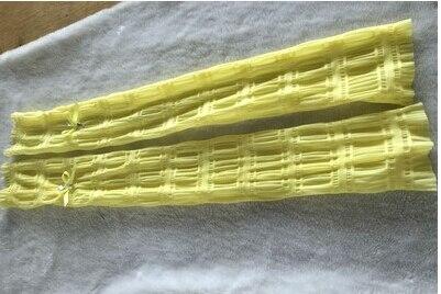 Женские летние длинные перчатки, солнцезащитные тонкие длинные дизайнерские анти-УФ шелковые шифоновые перчатки, сексуальные перчатки без пальцев R576 - Цвет: yellow