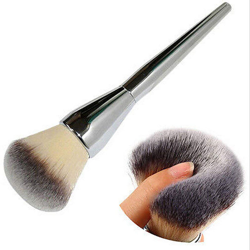 1PC Professional Large Silver Handle Face Makeup Brush Blush Powder Foundation Make Up Brushes Cosmetic Tools