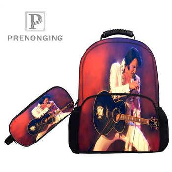 Personalizado 17 pulgadas elvis_presley _ mochilas pluma bolsas impresión 3D escuela mujeres hombres viaje bolsas niños niñas libro ordenadores bolsa #1031-2-77