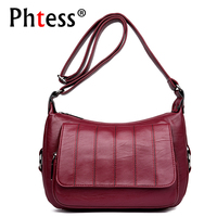2018 Women Plaid Leather Shoulder Bags Female Vintage Messenger Bags Small Crossbody Bags For Women Sac