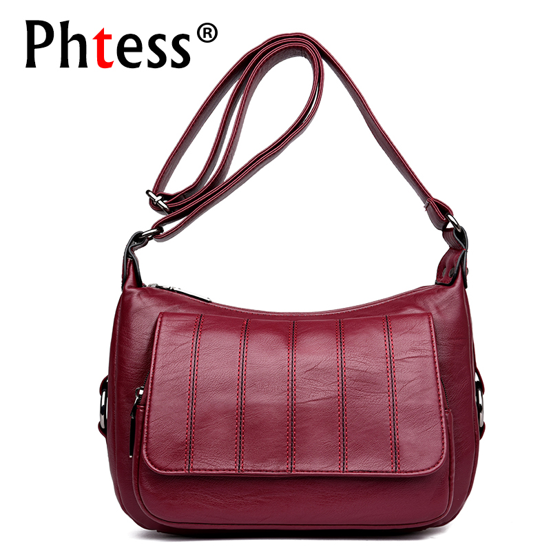 2018 Women Plaid Leather Shoulder Bags Female Vintage Messenger Bags Small Crossbody Bags For Women Sac a Main Femme Ladies Bag zooler brand genuine leather shoulder bags for women casual messenger bag ladies small cowhide leather crossbody bags sac a main
