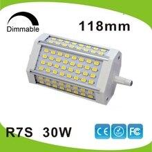 Диммируемый 30 Вт led R7S светильник 118 мм R7S лампа без вентилятора J118 R7S RA> 80 заменить 300 Вт гологенная лампа AC110-240V