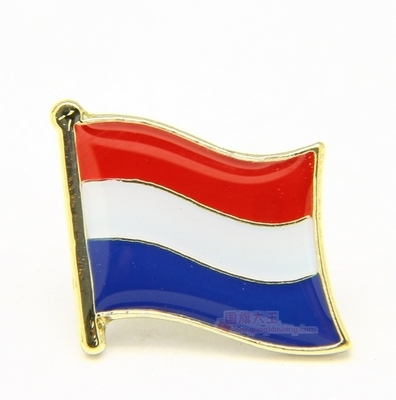 National Flag Metal Lapel Pin Flag Pin Holland  Netherlands