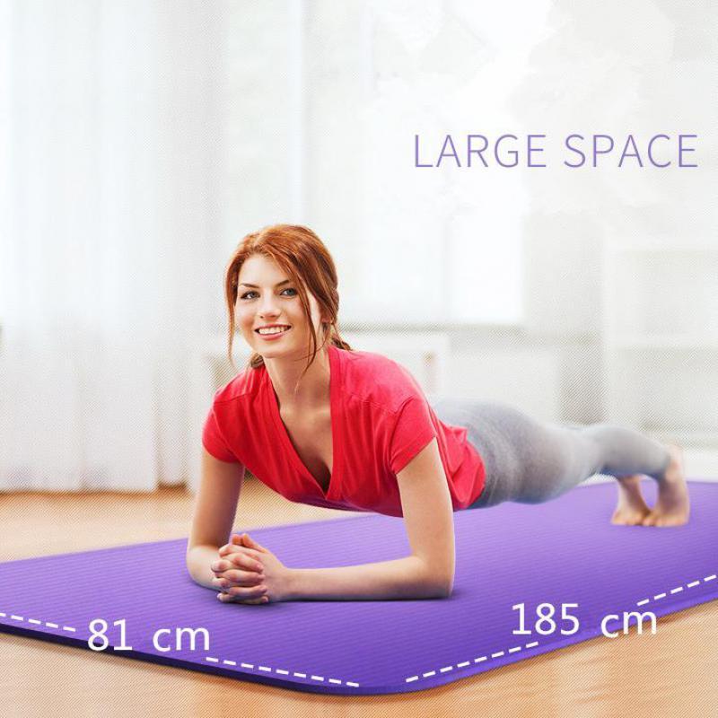 185 cm 10mm Épaissie NBR Tapis De Yoga Élargi Multifonctionnel de Sport et de Remise En Forme De Protection Tapis Pilates Mat Non-Slip tapis de gymnastique
