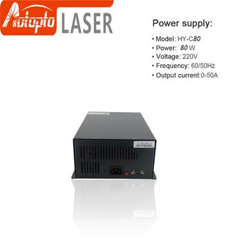 CO2 Laser Power Supply HY-C80 80W use for CO2 Laser Cutting and Engraving Machine hy t100 good quality high power co2 laser tube power supply laser machine for engraving and cutting