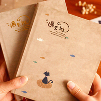 1Pcs Creative Lovely Cats Colored Pages Illustration Notebook Student Stationery Gift School Office Supplies 056
