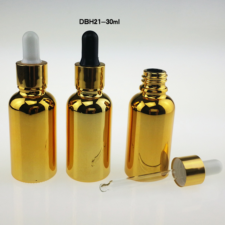 100pcs Golden Glass 30ml Dropper Bottle For E Liquid 30ml