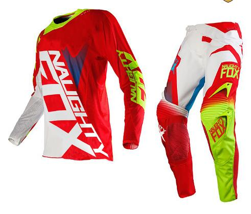 2017 NAUGHTY Fox MX SHIV 360 Motocross Gear Set off road racing suit Motocross Jersey and Pants