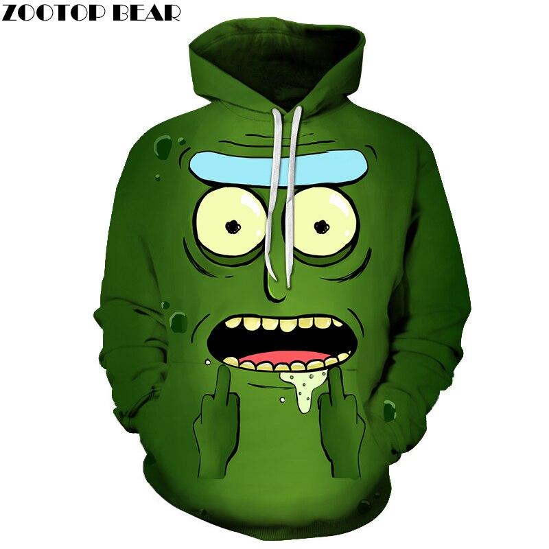 Rick and Morty Printed Hoodies Mens Sweatshirts 3D Hoodie Anime Pullover Male Hoody Streetwear Tracksuits Drop Ship ZOOTOP BEAR