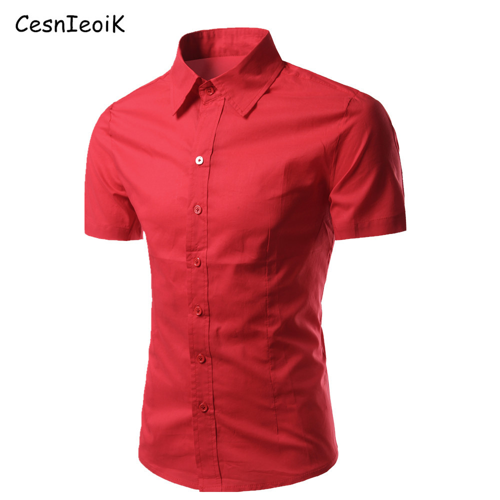 2016 summer multifunction shirts men new business casual for Solid color short sleeve dress shirts