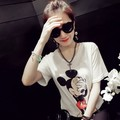 2017 Women Blouses Shirts Mickey Mouse Character Cartoon Pattern Funny Tops Camisa Feminina Summer Clothes Roupas Feminin