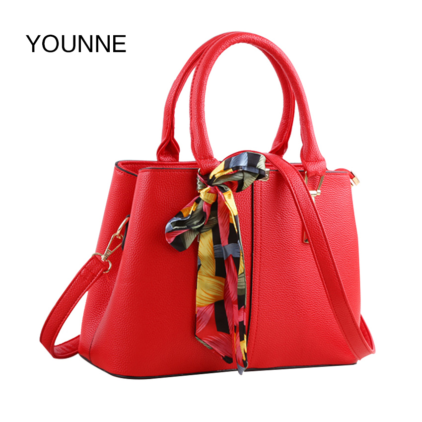 YOUNNE Luxury Handbags Women Bags Designer Female Large Capacity Shopping Totes Fashion PU Leather Shoulder Bags Casual Totes