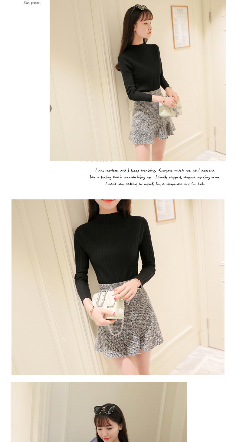 19 Autumn and winter New Korean Half turtleneck Sweater jacket Womens Long Sleeve Set head All-match knitted Sweater woman 28