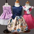 Aercourm Un Vestido de 2017 Del Verano Nueva Moda Retro Floral Vestido Tutú de Las Muchachas Vestido de Niña de las Flores Ropa de Las Muchachas de Impresión en Color