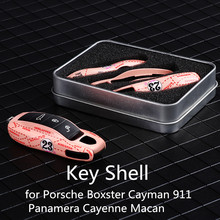3pcs Remote Key Case Key for Porsche Boxster Cayman 911 Panamera Cayenne Macan Cover  Modified Key Shell  Pink pig series цена