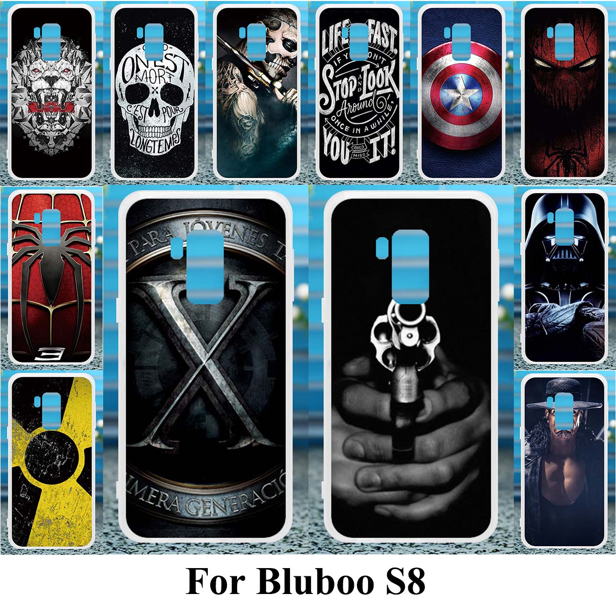 competitive price 92a0f e1f32 US $0.88 30% OFF|TPU Soft TPU Cases For Bluboo S8 5.7 inch Case Skin Back  Capa Cover For Bluboo S8 5.7 inch Case Silicone DIV Painted Fundas-in  Fitted ...